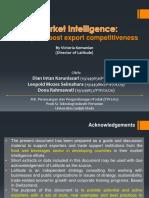 Market Intelligence a Key to Boost