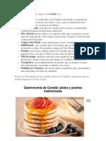 Comida Tipica de Canada y Bailes