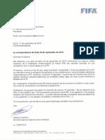 Carta FIFA a Rivera