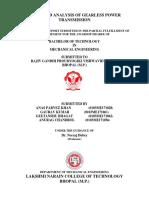 Report on Gearless Mechanism
