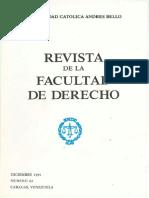 REVISTA FACULTAD DERECHO 43 UCAB