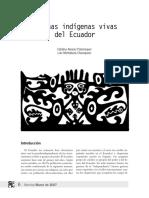Lenguas Indigenas Vivas Del Ecuador