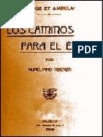 Los Caminos Para El Éxito - Aureliano Abenza y Rodríguez - PDF