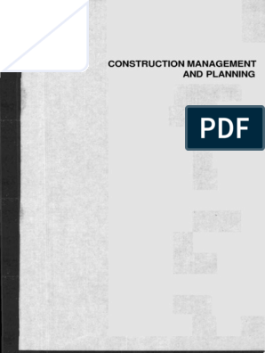 Construction Management And Planning Pdf Internal Rate Of Return Employment