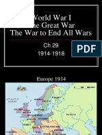 World History Ch 29 World War I Student Notes