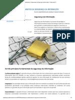 Entendendo Os Fundamentos Da Segurança Da Informação - Profissionais TI