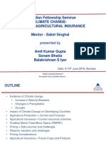 Agriculture Insurance - Impact of Climate Change