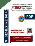 PORTAFOLIO Del Estudiante 2019 II