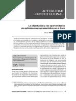 CDG - LA (DI-) SOLUCIÓN Y LAS OPORTUNIDADES DE  OPTIMIZACIÓN REPRESENTATIVA EN EL PERÚ (2019-2021)