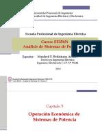 EE354 - Clase 11P1 - Costo Marginal y Flujo de Potencia Óptimo 2019-I