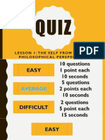 understanding the self quiz bee