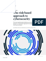 The Risk Based Approach to Cybersecurity