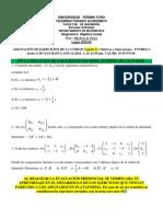 Ejericios de algebra lineal 1