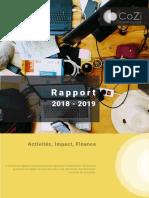 Rapport 2018 - 2019 (Activités, Impact, Finance)