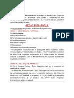 Areas Tematicas e Areas de Conhecimento