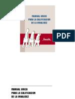 Manual Unico Para La Calificación de La Invalidez