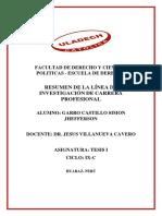 Resumen de La Línea de Investigación de Carrera Profesional -Garro-castillo-simon-jhefferson