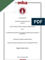 Caso 1. Insercion del Perú en el contesto internacional. Riesgos y Propuestas