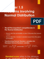 14Chap 1.5 Problems on Normal Distribution