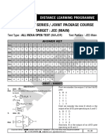 JEE Main 2020 Sample Paper Mock Test Answer Key Solution Leader