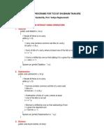 Practice Programs for Tcs
