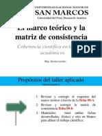 El Marco Teórico, método por indices y la matriz de consistencia