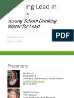 Reducing Lead in Schools Webinar