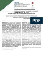 Tuberculosis Pulmonar Con Afectación Laringea a Propósito de Un Caso 01