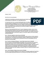 Mayor Michael Hancock 2020 Budget Response to Denver City Council