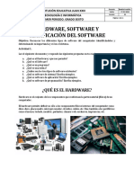 Hardware, Software y Clasificación Del Software