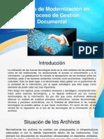 Principio de Modernización en El Proceso de Gestión Documental