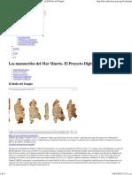 Los Manuscritos Del Mar Muerto. El Proyecto Digital_El Rollo Del Templo