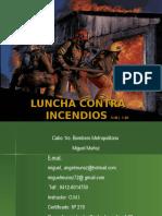 Combate de incendios en instalaciones industriales.