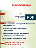 Simple Bookkeeping in Entrepreneurship
