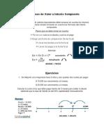 Ecuaciones de Valor a Interés Compuesto