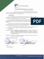 DIRECTIVA PARA TRABAJOS  DE INVESTIGACION 2019-USP