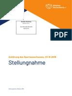 19(5)154 Athleten Deutschland Anhörung_Sportausschuss AntiDopG