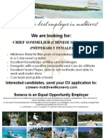 Job Flyer - Chief Sommelier