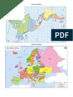 Mapa de los 6 continentes