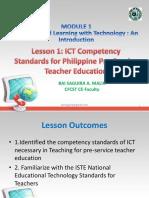Lesson 1-ICT Competency Standards for Philippine Pre-Service Teacher Educati