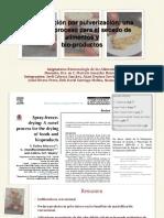 Liofilización Por Pulverización (Presentación 1er Parcial)