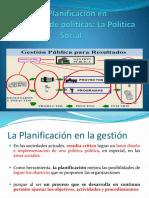 Planificación y Política Pública