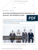 Investment Banking Interview Questions_ the Definitive Guide