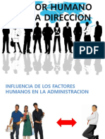 Factor Humano en La Direccion