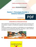 Psicologia Escolar Sesion 1