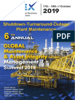 6th Annual Global Shutdown-Turnaround-Outage Plant Maintenance and Asset Integrity London 2019