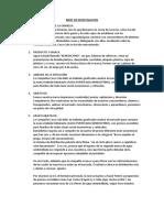 BRIEF de INVESTIGACION Investigacion de Mercado.docx Benedictino