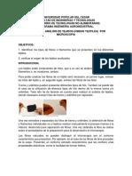 identificacion de fibras al microscopio