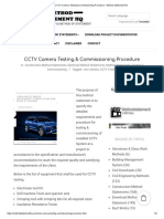 CCTV TESTING &COMMISSION