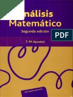 Análisis Matematico_Tom Apostol 2da Edicion